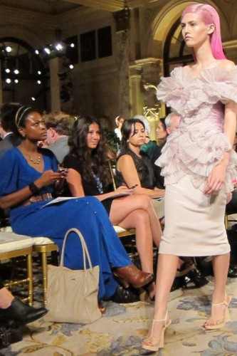 Felicia Walker Benson Front Row at MARCHESA