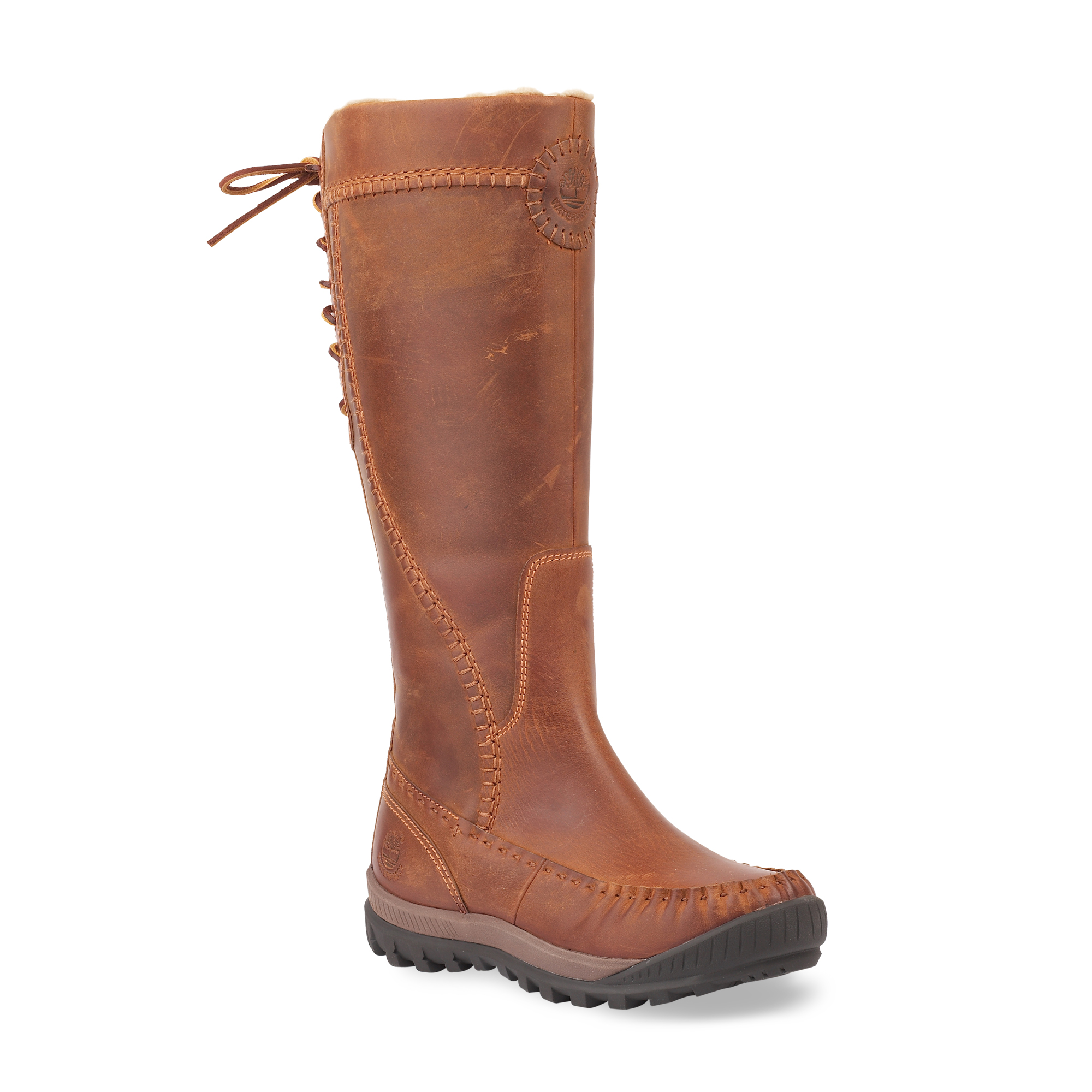 18636 TBL EK Mount Holly Tall All-Leather Zip Boot medium brown