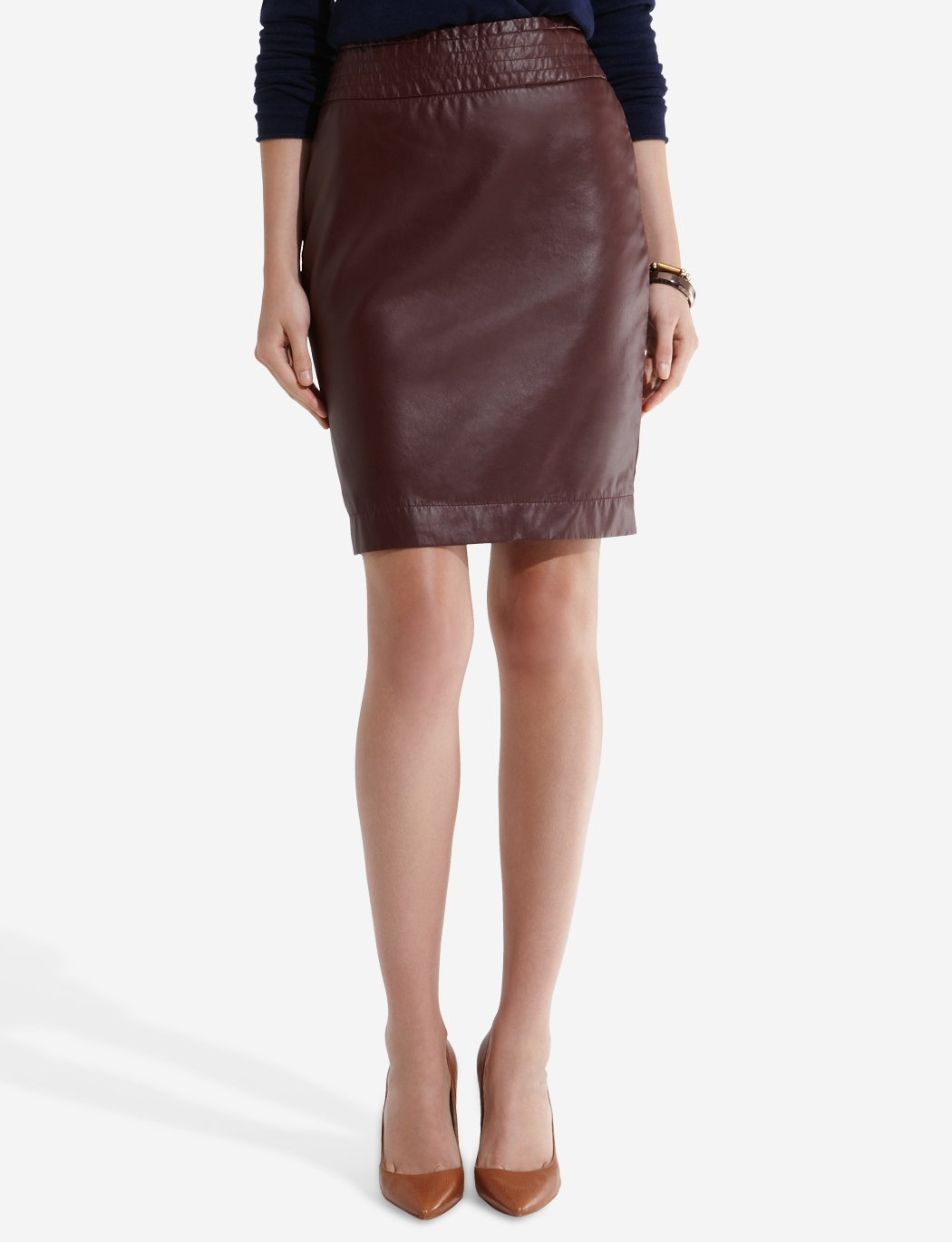 Shop Faux-Leather Pencil Skirt. Find your perfect size online at the best price at New York & Company.