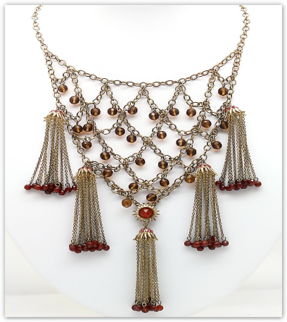 Carolina Amato Tassle Bib Necklace