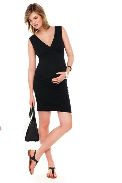 Ruched Sleeveless Maternity Dress