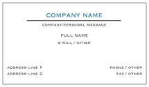 business card example