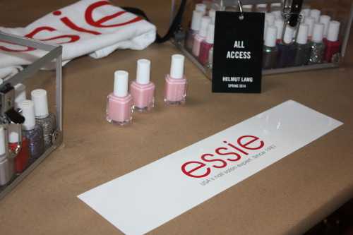 Essie for Helmut Lang Spring 2014 NYFW backstage