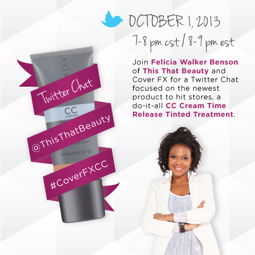 CoverFX Twitter Chat with ThisThatBeauty