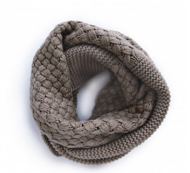 SOLE SOCIETY MIXED KNIT INFINITY SCARF