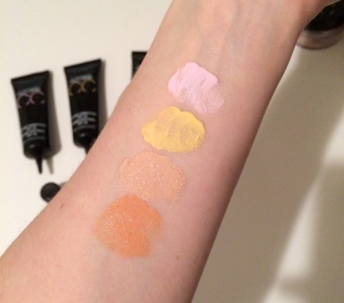 MAC prep prime swatches