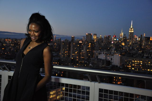 Felicia Walker Benson (skyline shot) Rooftop at Mondrian Soho at Love In The City Premiere