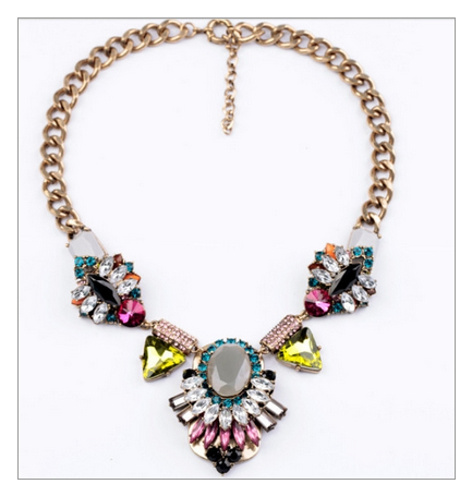 Kiawah Island Crystal Statement Necklace