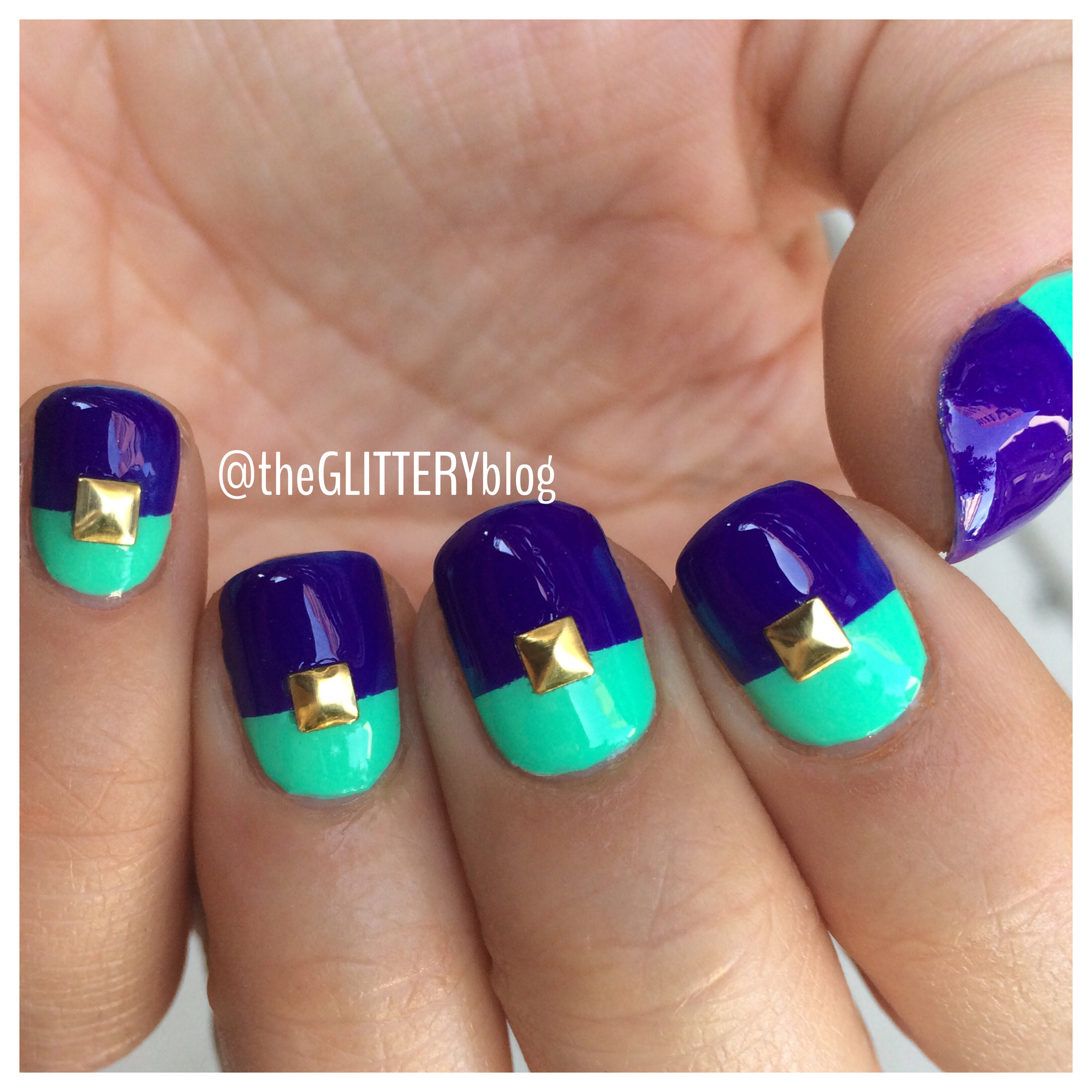Mani of the Week: Summer-Ready Color Blocked Nails