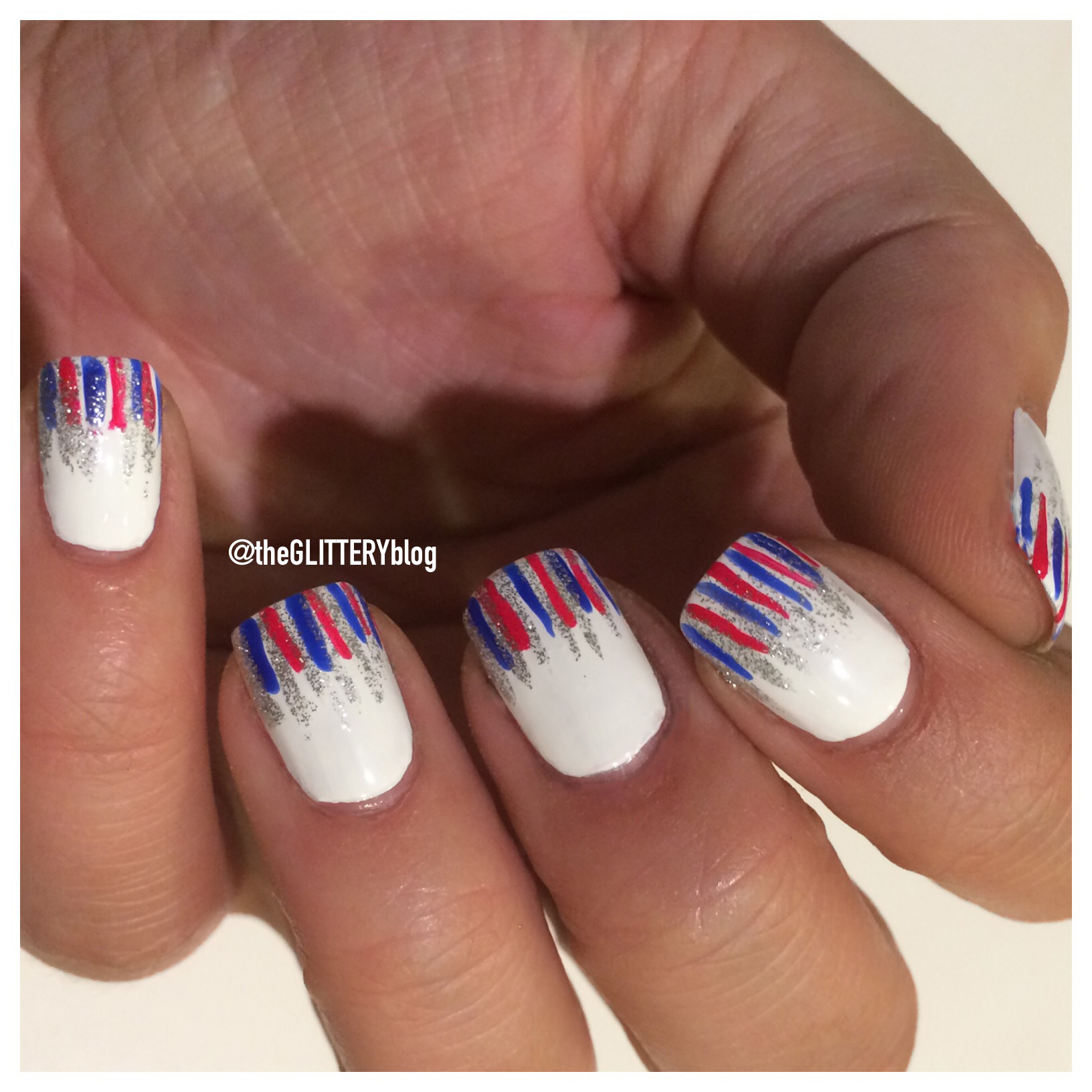 Mani of the Week: DIY 4th of July Fireworks Nail Art!
