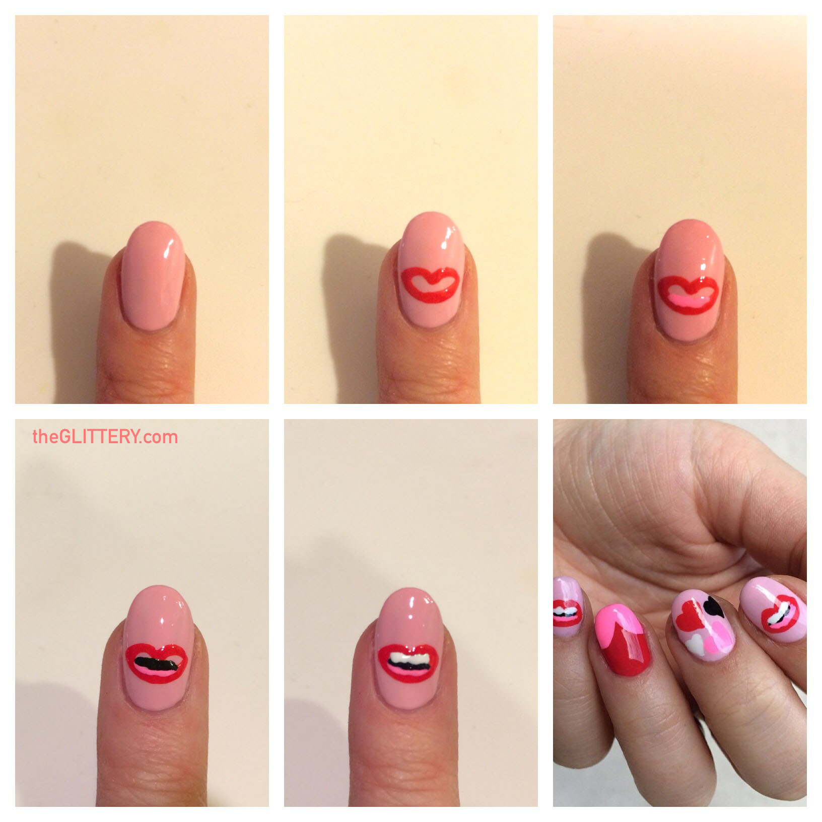 Mani of the Week: Lips on Your (Nail) Tips