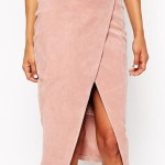 Wrap Pencil Skirt in Suede with D-Ring, ASOS