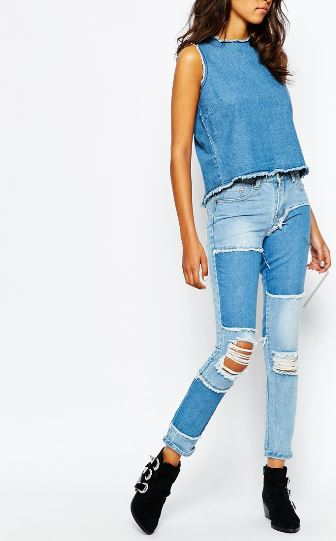 ASOS Liquor & Poker Slim Mom Jeans