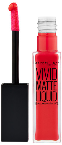 Choosing the Perfect Red Lipstick - Maybelline ColorSensationalVividMatteLiquidinOrangeShot