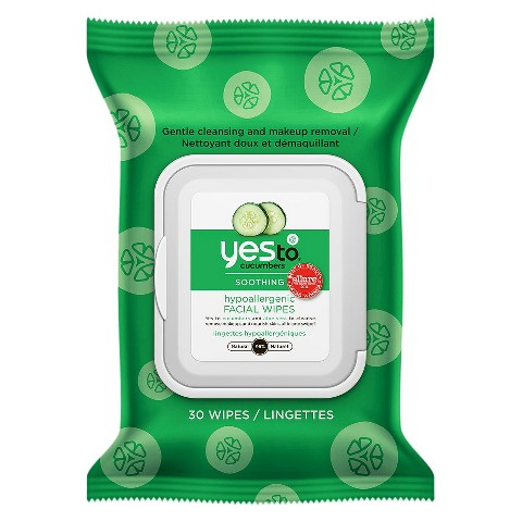 Beauty Products You Need in Your Gym Bag - Yes to Cucumbers Facial Wipes