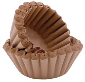 beauty hacks - unbleached coffee filters as blotting paper