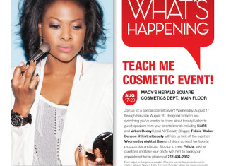 Macy's Teach Me with Felicia Walker Benson of ThisThatBeauty