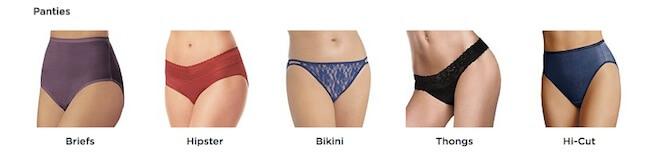 Kohl's Panty Styles