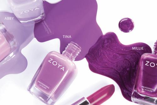 Zoya - Abby Tina Milly - spring manicure